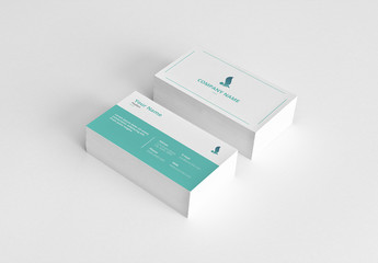 Business Card with Teal Accents