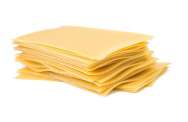 Top view of lasagna sheets stack