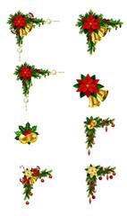 Set of Cristmas corner decorations