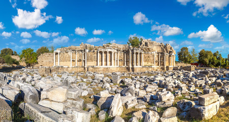Ruins of ancient city in Side,Turkey