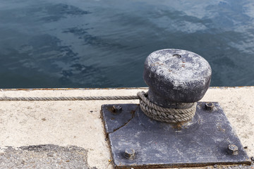 mooring in a harbor for a fishing vessel