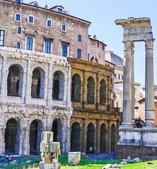 Teatro Marcello and Portico D'Ottavia Ruins in Rome Italy