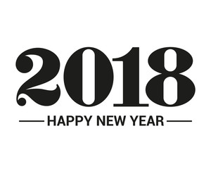 Happy New Year 2018. Vector illustration