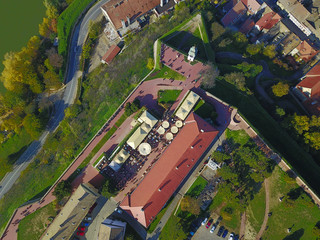 Air view of Petrovaradin fortress