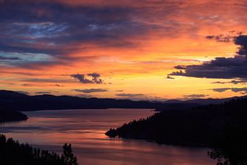 Lake Coeur d'Alene at sunset