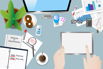 Time stress in office concept