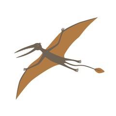 Dinosaur, Rhamphorhynchus. Vector illustration.