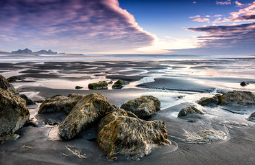 Sunset at Iceland's South coast