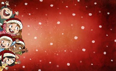 niños felices en navidad
