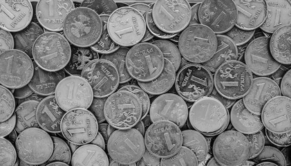 Russian money - coins rubles