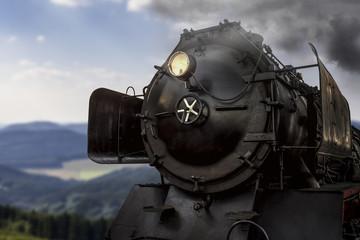 steam train in the summer