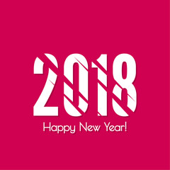 2018 Happy new year vector. Background with dynamic diagonals. for greeting card, flyer, invitation, poster, brochure, banner, calendar Christmas Meeting events