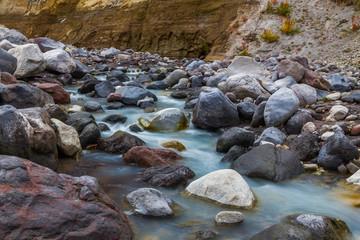 Mountain stream stones