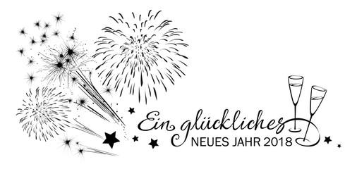 Feuerwerk, Sekt und Kalligraphie - Ein glückliches neues Jahr 2018 ...