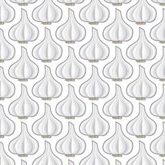 background pattern with garlic