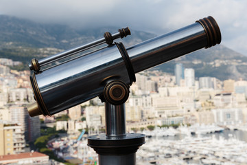 Spyglass on a rock at the Prince's Palace in Monte Carlo