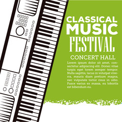 Classical music festival flyer icon vector illustration graphic design