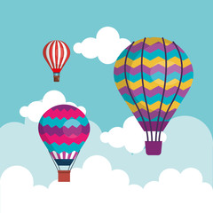 balloons air hot flying