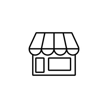 online store market line black icon