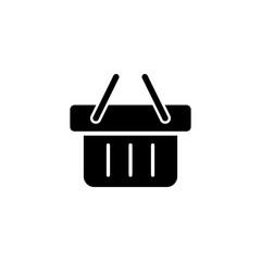 market store basket simple black icon