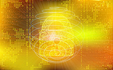 Vector  Digital Data Web Security Background