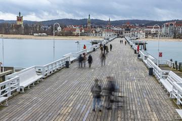 Door stickers Port Sopot Pier (Molo) in the city of Sopot, Poland