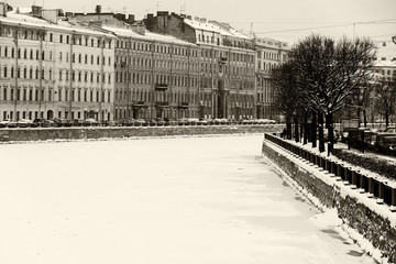 St. Petersburg Fontanka river embankment