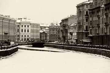 St. Petersburg Moika river embankment