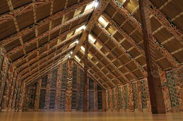 Marae  Maori meeting grounds interior