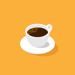 A cup of coffee isometric flat design