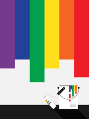 LGBT community painted background flat design