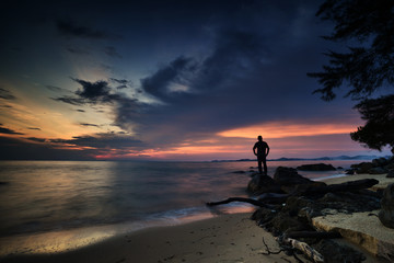 The best sunset moment at Lady Rosses Beach