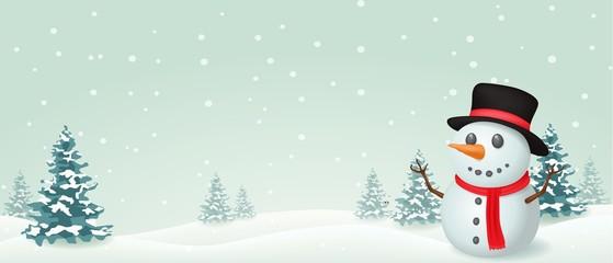 Christmas Snowman banner design