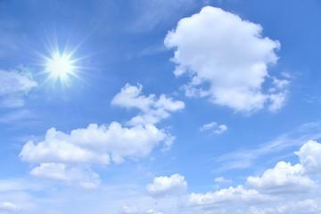 さわやかな青空 輝く太陽