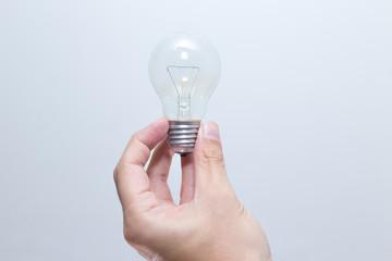 Hand hold Lightbulb Creativity or Thinking Innovation Creative concept