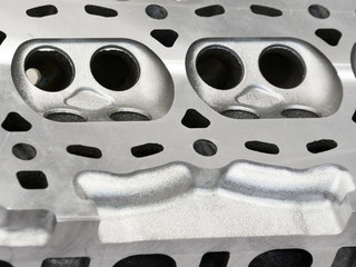 The cylinder head of the internal combustion engine.