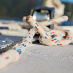 the concept of navigation whit  vassel  rope