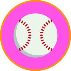 Baseball, flat art vector style object.