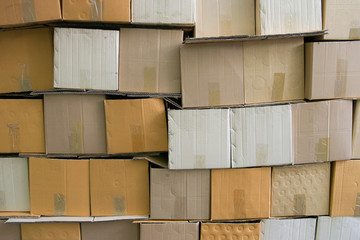 A pile of cardboard box for background picture