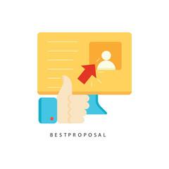 Employment icon vector work design illustration