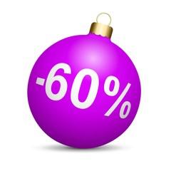 Boule de Noël en solde - 60%