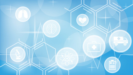 Abstract medicine and science concept background icons eps 10