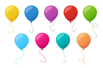 Holiday colorful balloons. Vector.