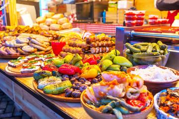 Variety of ukrainian food