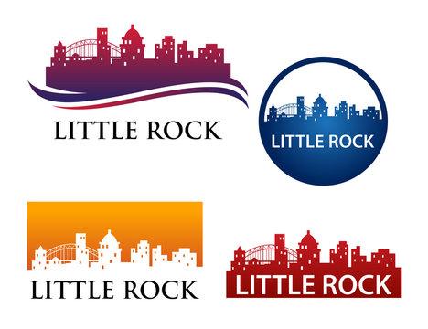 Little Rock Skyline Logo Template