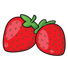 Strawberry Cartoon Illustration of cute cartoon strawberry.