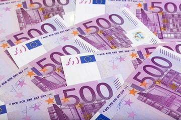 background of 500 Euros bills