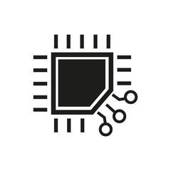 Processor simple icon