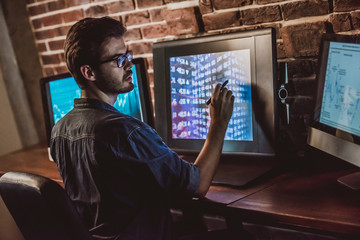 Handsome young programmer