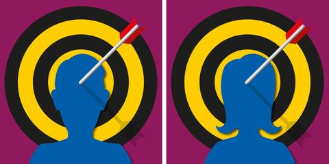cibler - concept - entreprise - concurrence - objectif - leadership - stratégie
